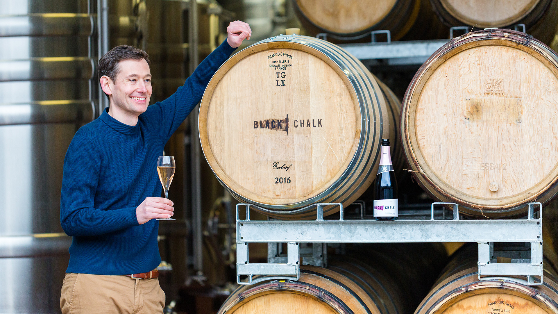 Jacob Leadley, winemaker and CEO of Black Chalk