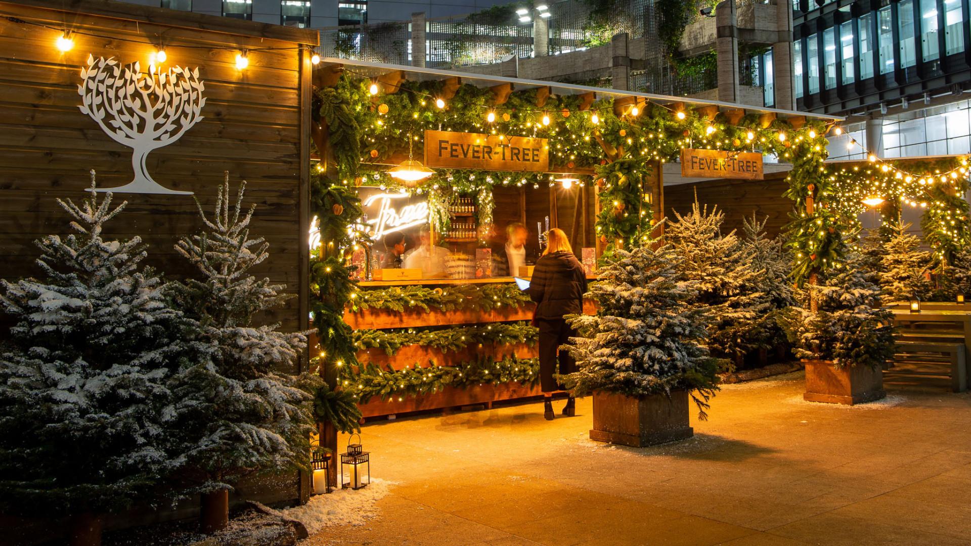 Fever Tree winter lodge Broadgate Circle
