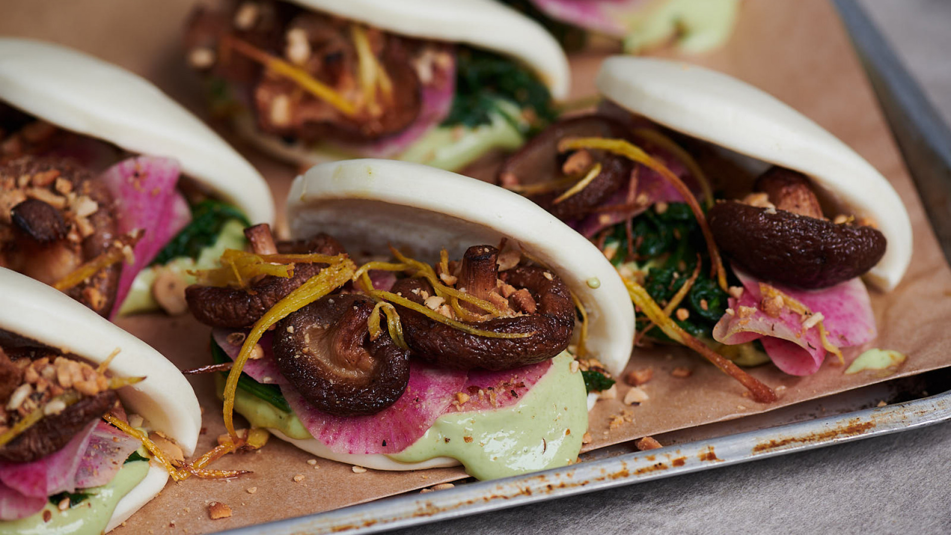 Vegan Helmann's mayo bao buns