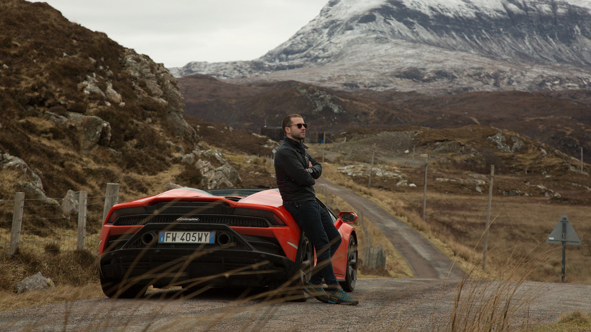 Lamborghini Huracan EVO Spyder on Scotland's North Coast 500 Photographed by Michael Shelford