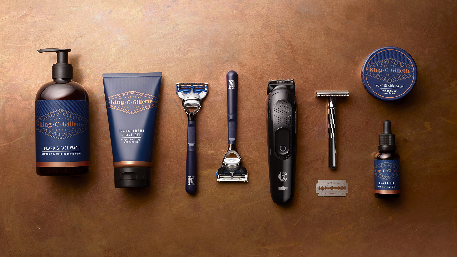 King C Gillette products