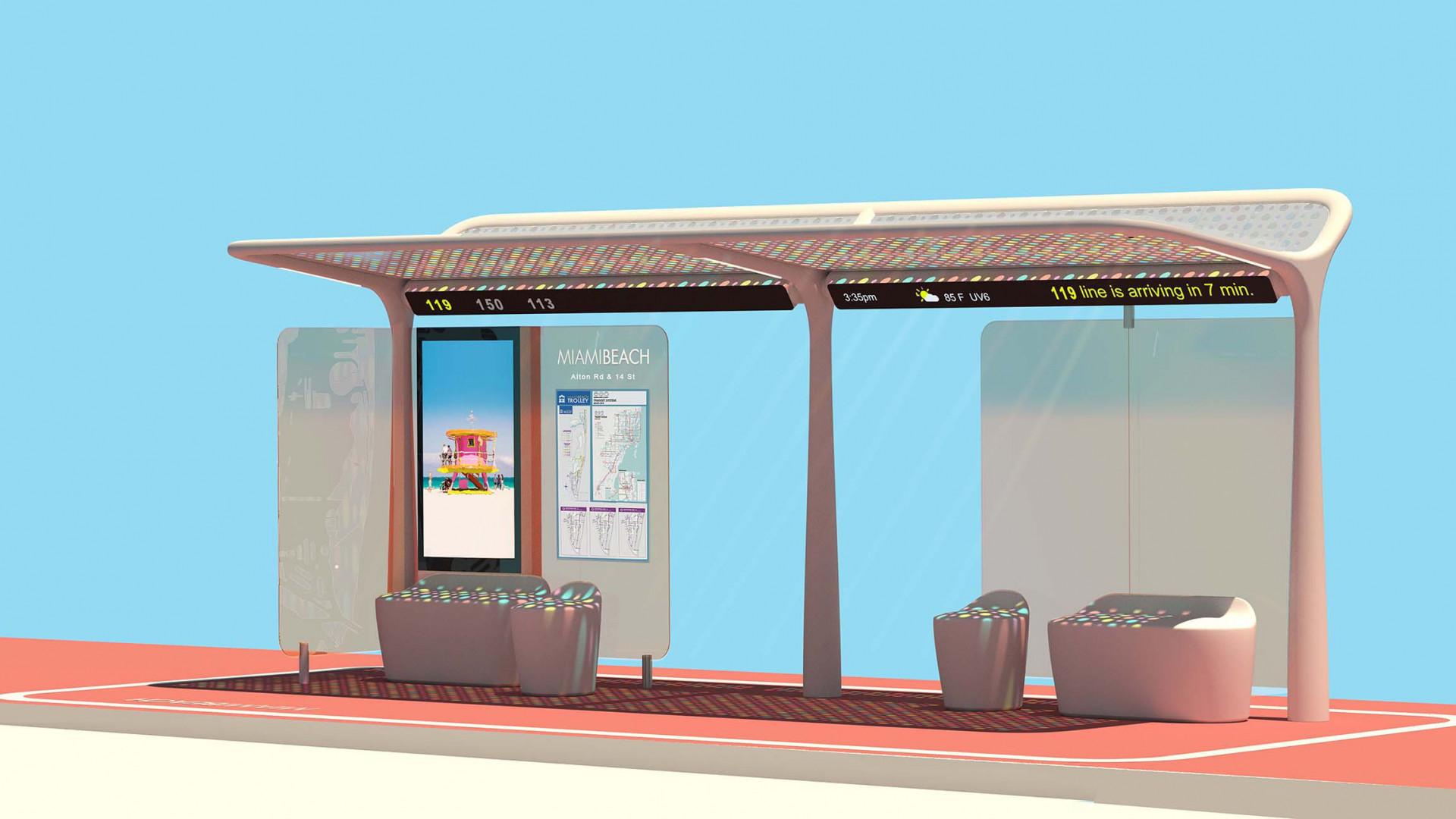 Miami Beach Bus Shelter