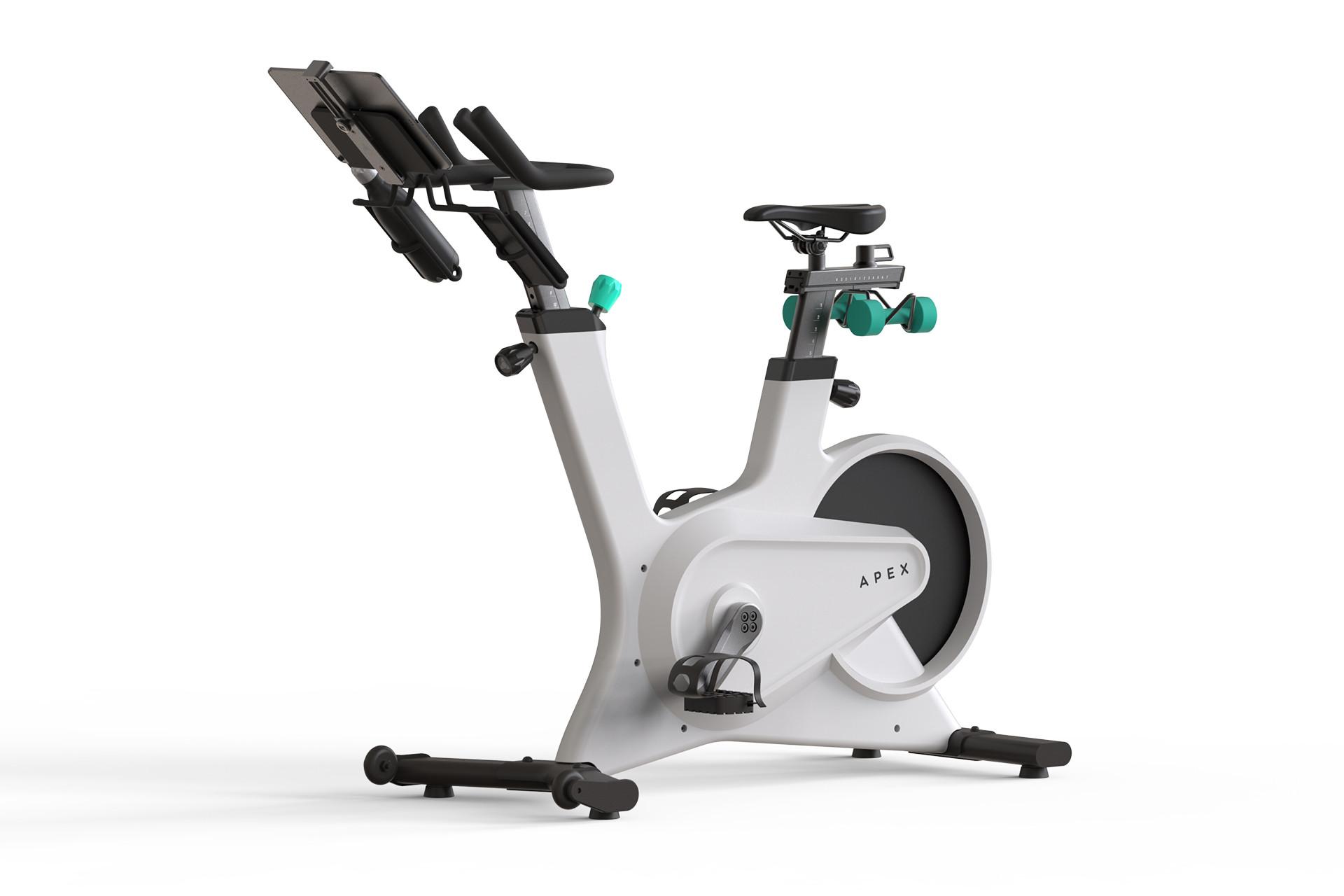 Apex exercise bike in white.