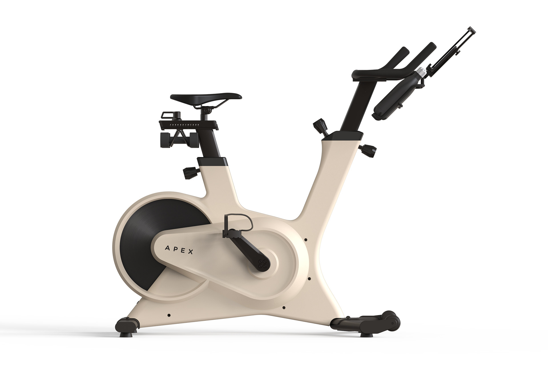 Apex exercise bike in nude.