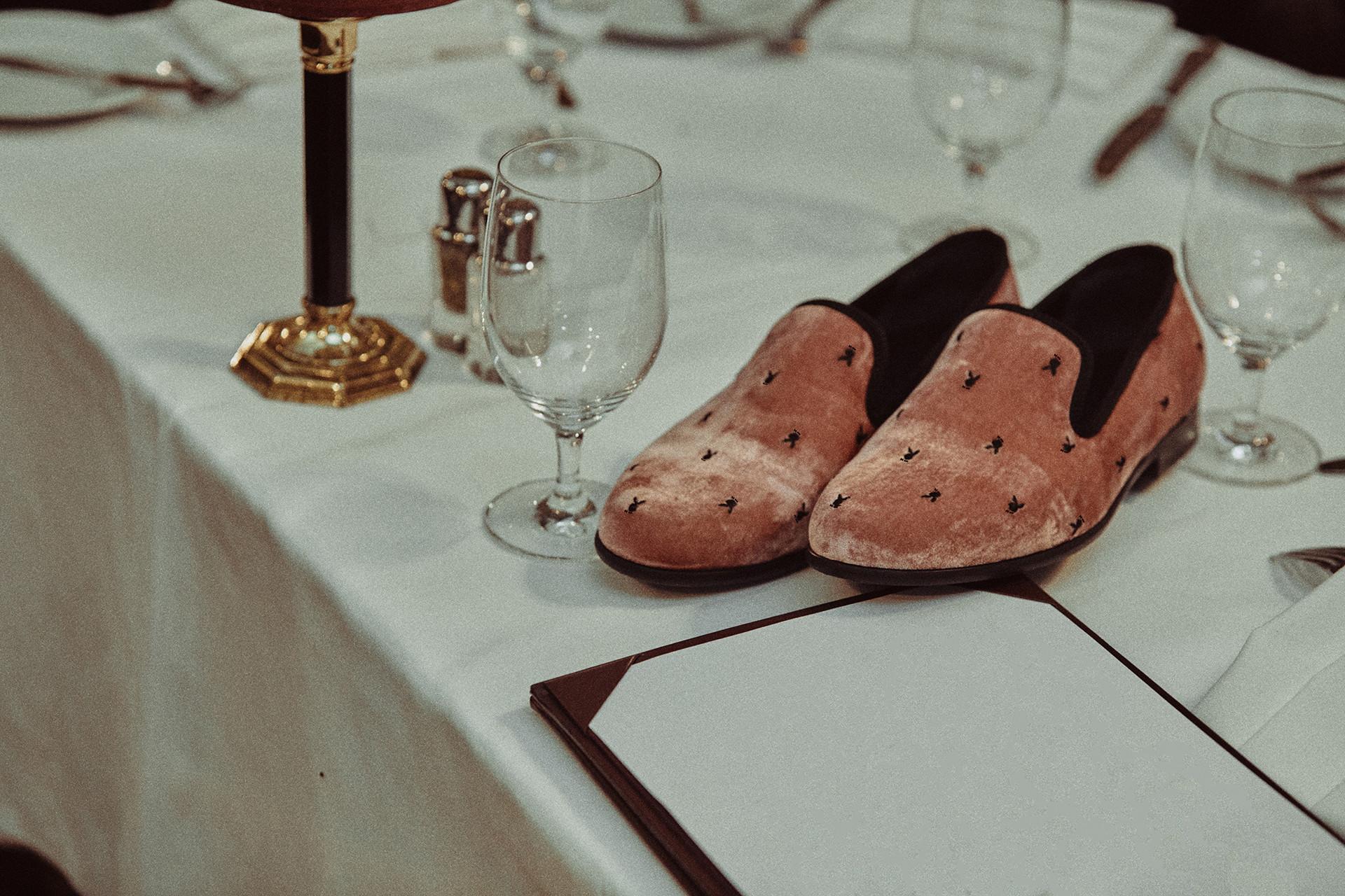 Luka Sabbat wearing Duke + Dexter x Playboy loafers