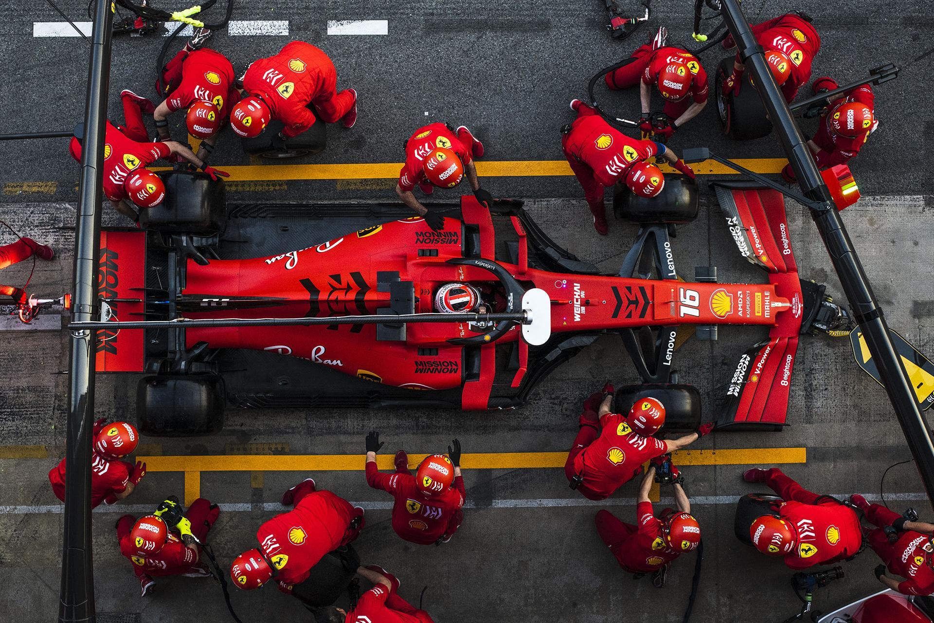 Ferrari Formula 1 team pit stop