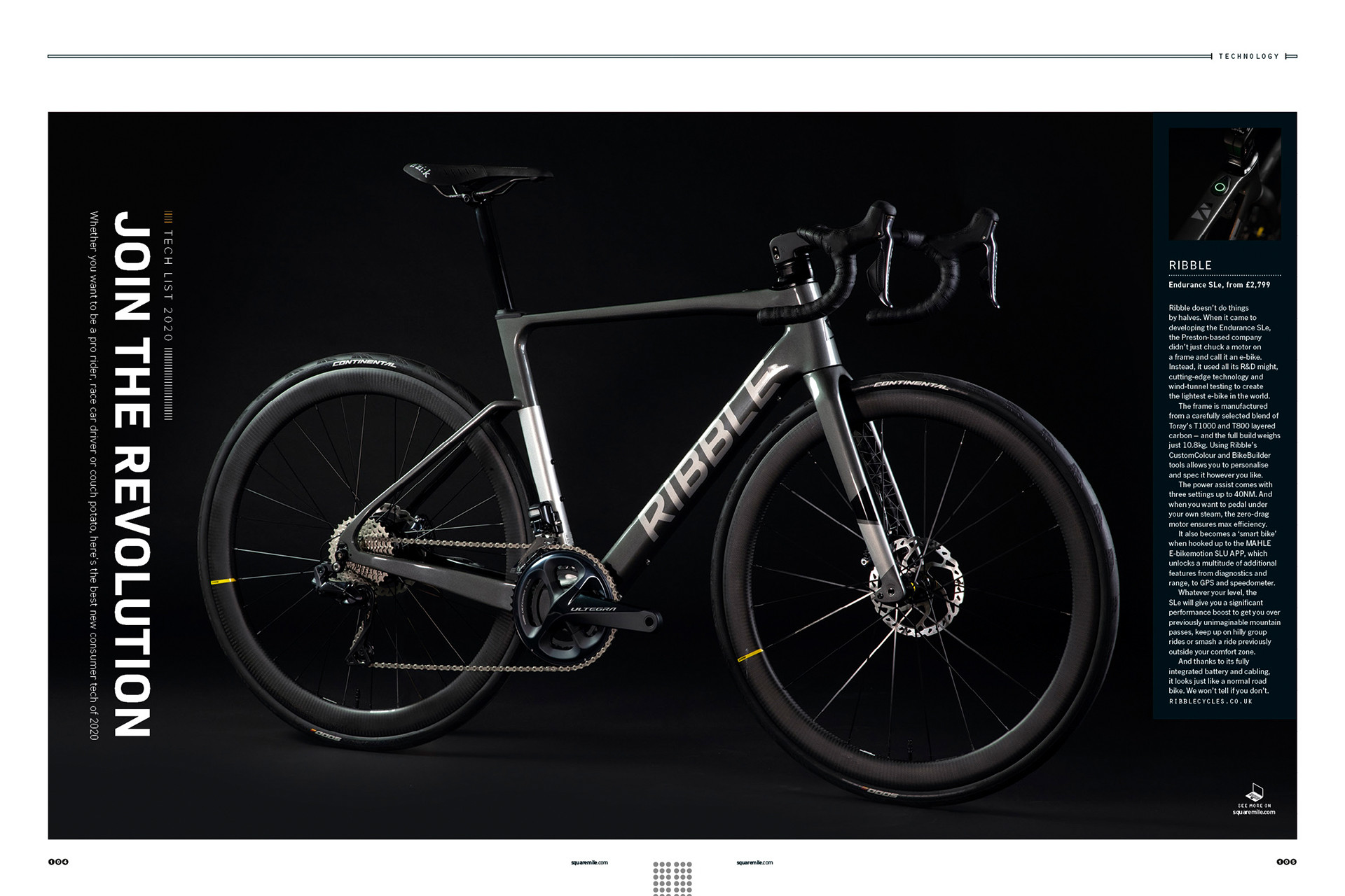 Ribble e bike for Square Mile magazine