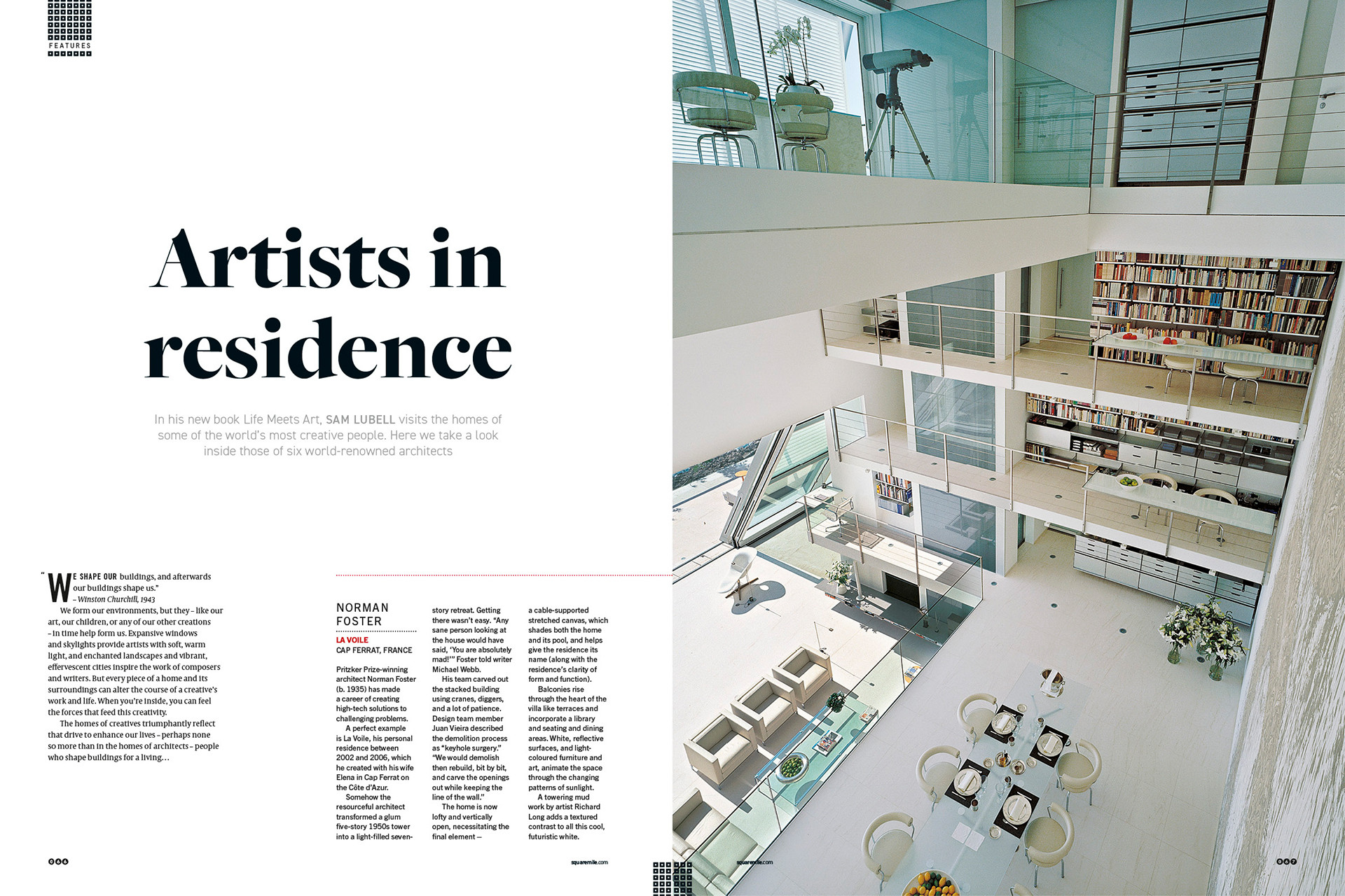 Architects' houses for Square Mile magazine