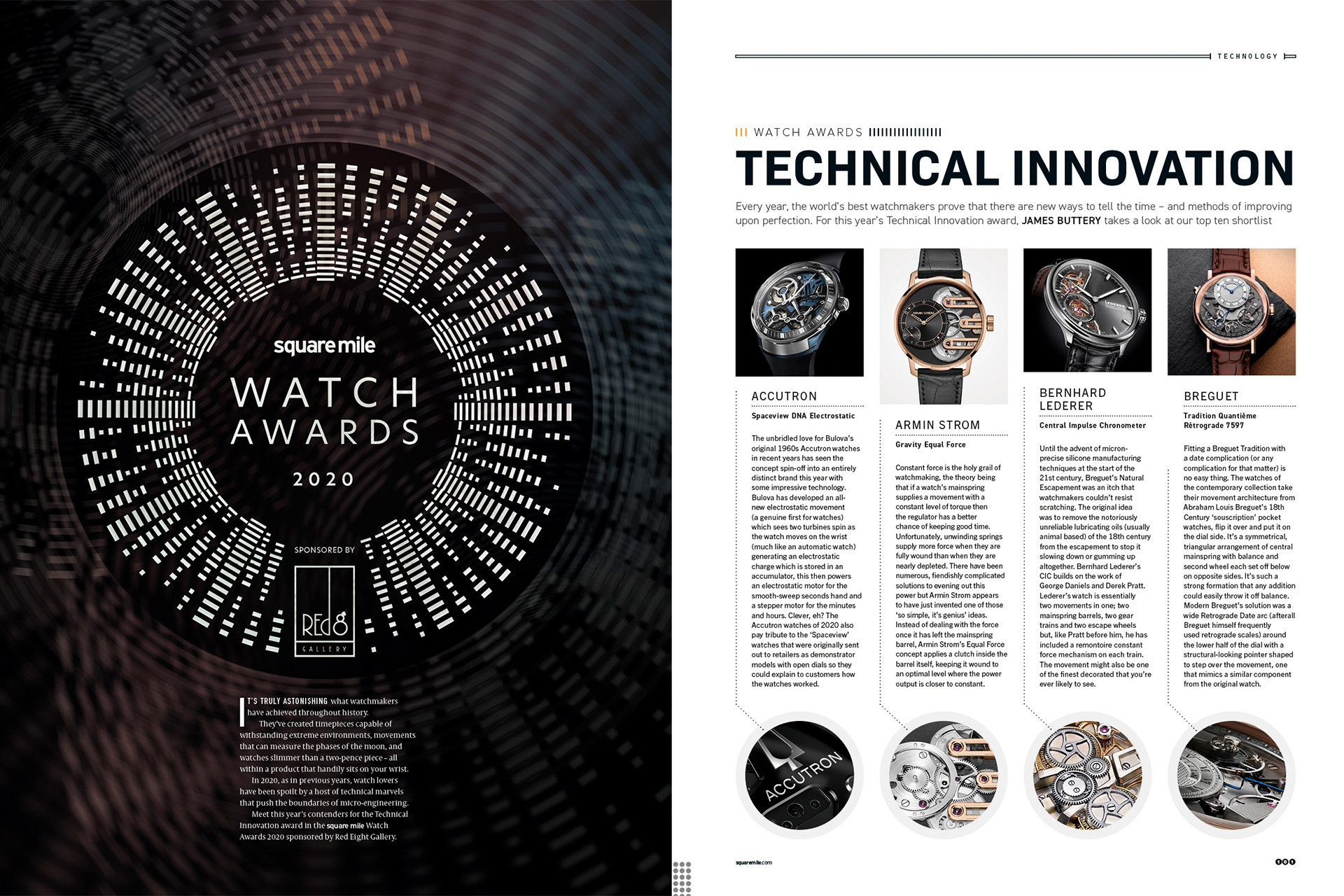 Square Mile Watch Awards Technical Innovation