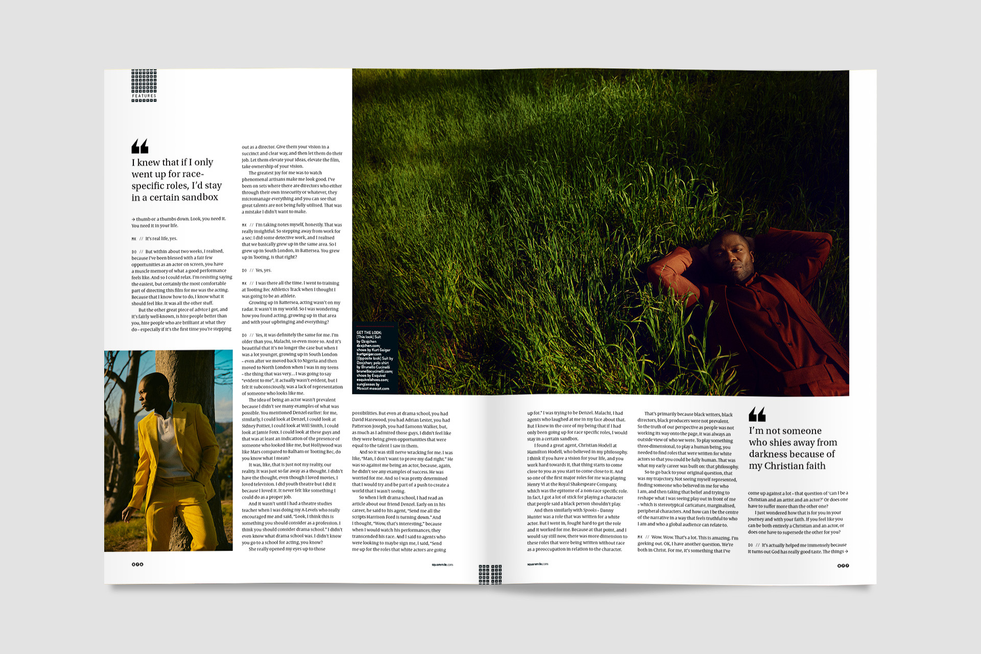 David Oyelowo for Square Mile magazine