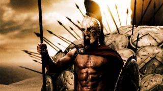 Gerard Butler as a warrior king in 300
