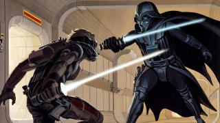 """""""Laser Duel"""" by Ralph McQuarrie"""