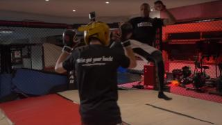 MMA Fighters London Shootfighters in cage