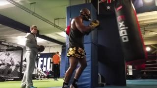 MMA Training at punch bag in Fight City Gym in London
