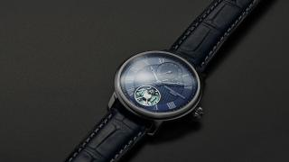 The Frederique Constant Slimline Monolithic Manufacture, featuring its new FC-810 movement and silicon oscillator