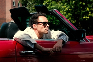 Andy Jordan for Jam Industries in red Mercedes