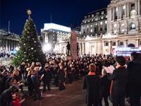 Royal Exchange Christmas tree lights 2017