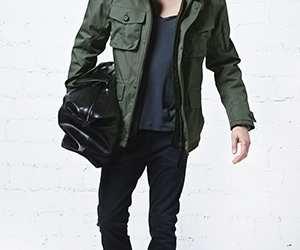Man wearing G-Lab coat_