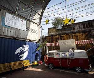 Camper van street food stall at London Union