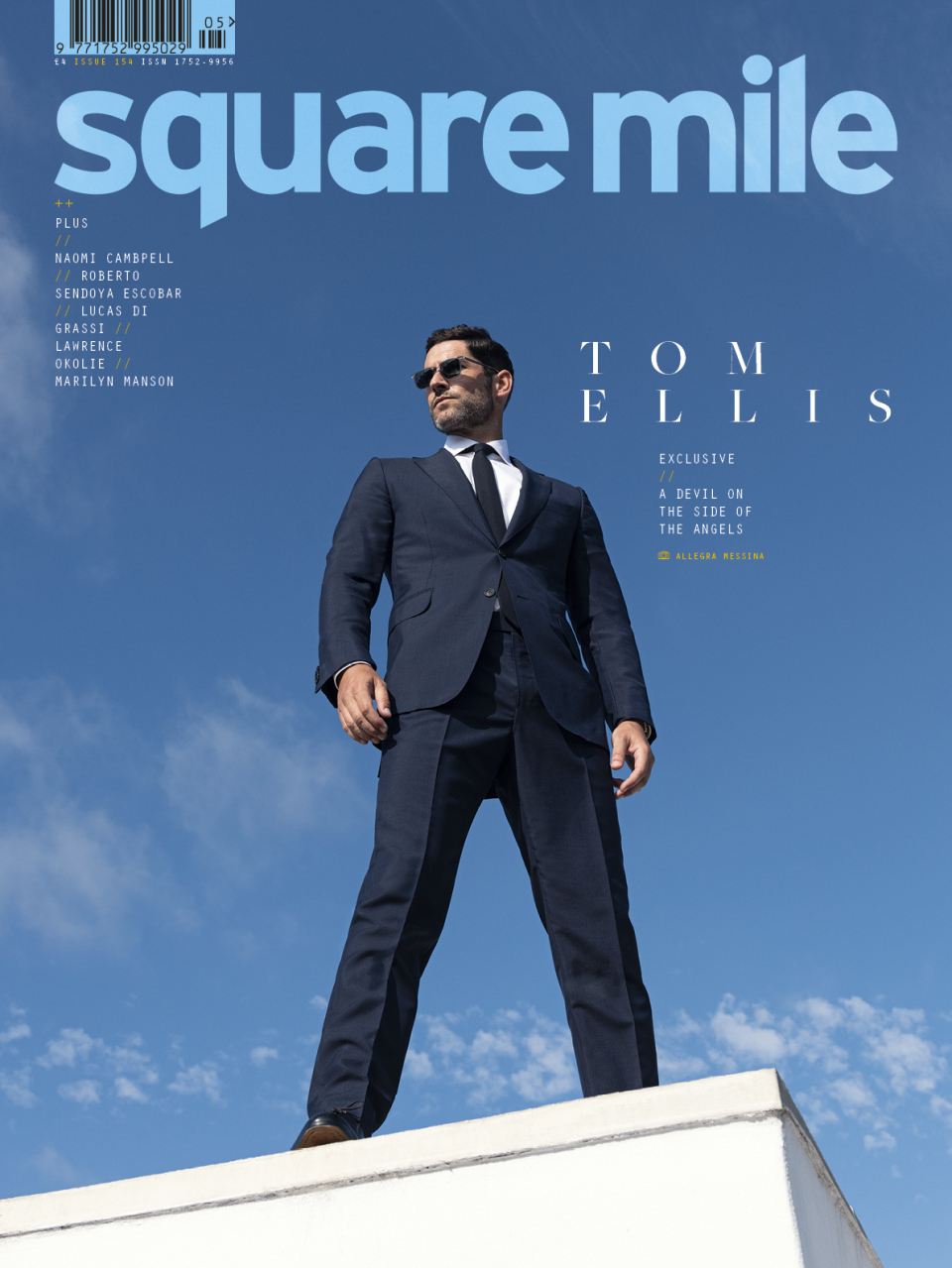 Tom Ellis photographed by Allegra Messina for Square Mile magazine