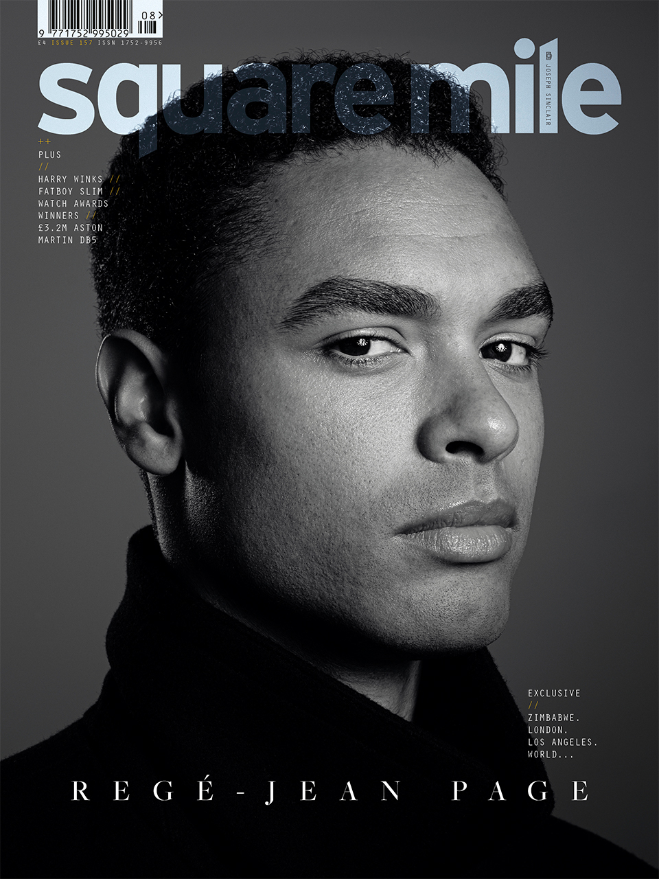 Regé-Jean Page photographed for Square Mile by Joseph Sinclair