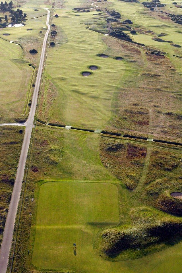 Carnoustie Golf Links 6th Hole – aerial view