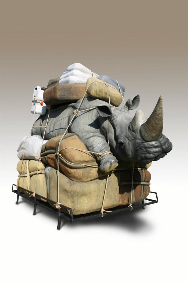 Bagaglio Rinoceronte Grande by Stefano Bombardieri