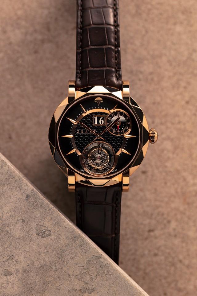 Best rose gold watches, Graff MasterGraff UltraSlim Dual Time Tourbillon