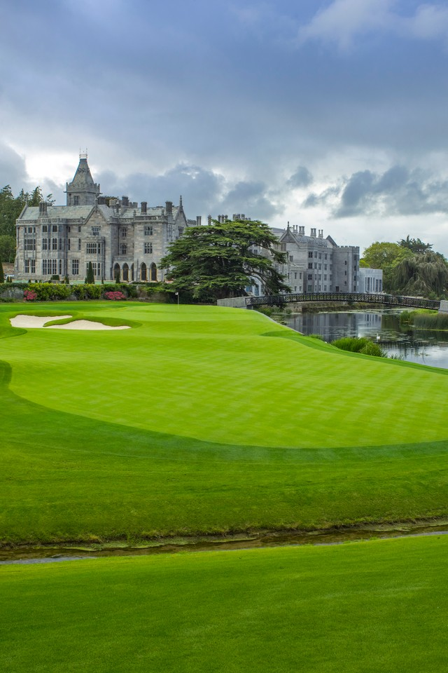 Adare Manor golf course, 18th hole, Ryder Cup 2026 host