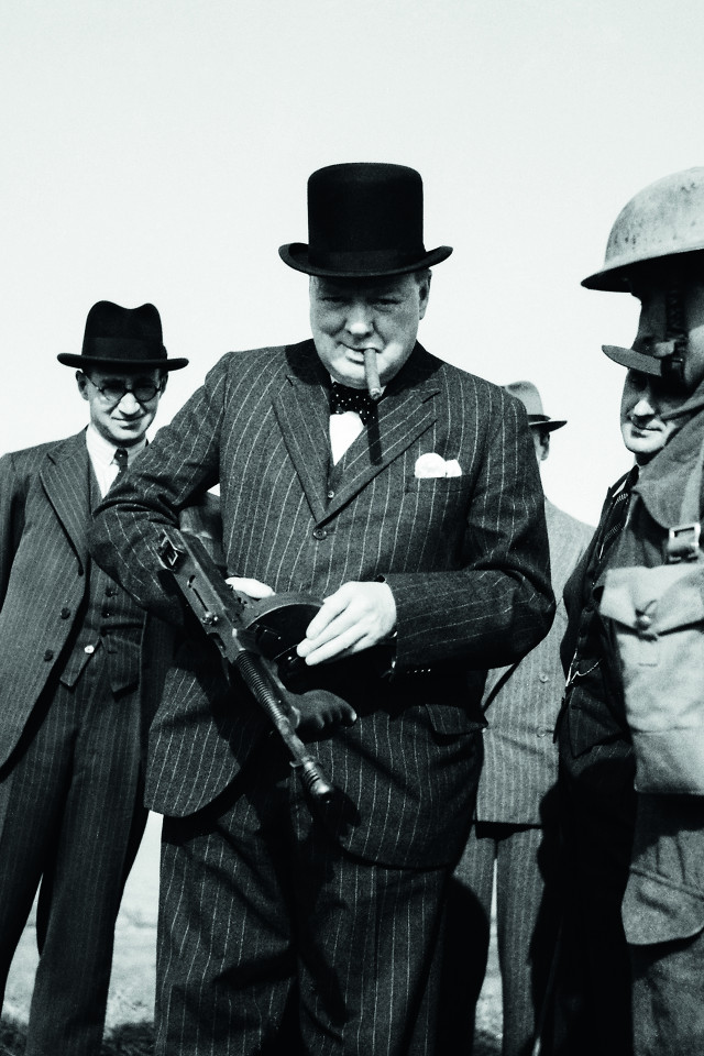 Churchill wearing Henry Poole