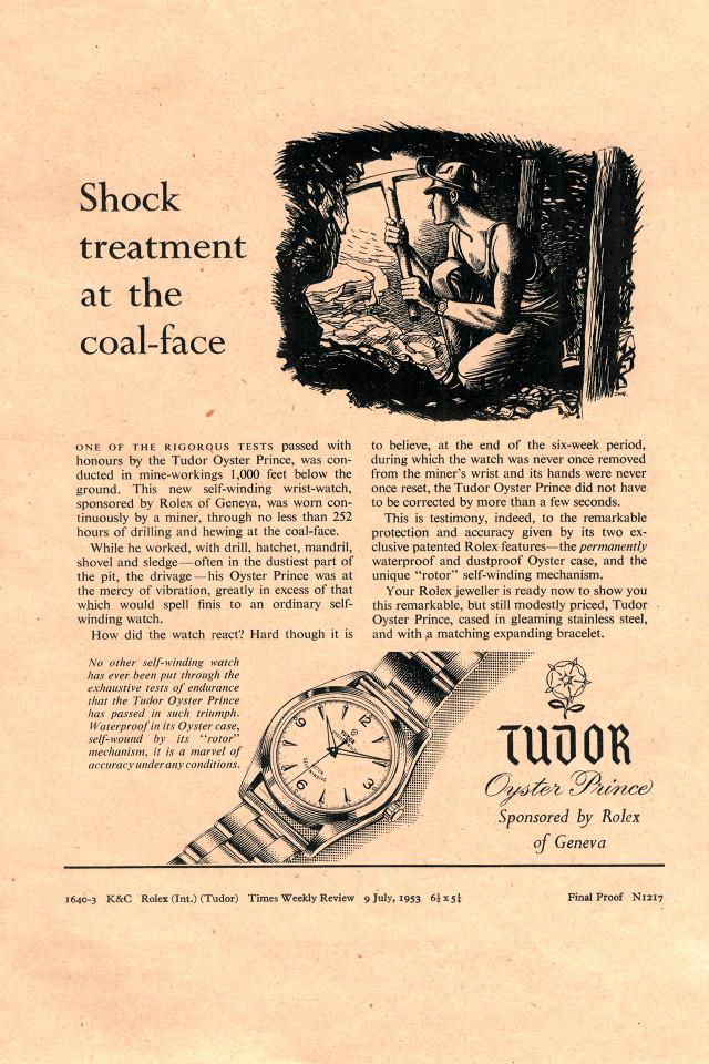 Tudor vintage advertisements