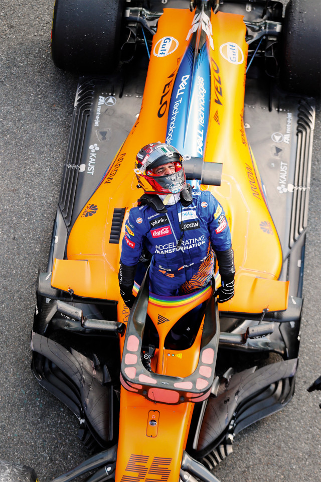 Carlos Sainz Jr, McLaren racing driver at the 2020 Italian Grand Prix