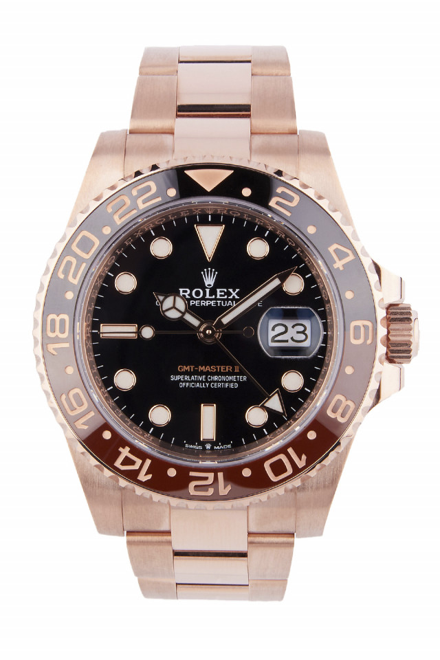 Rolex GMT-Master II Rootbeer rose gold