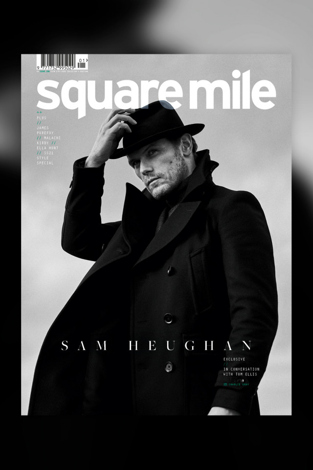 Sam Heughan photographed by Charlie Gray for Square Mile magazine