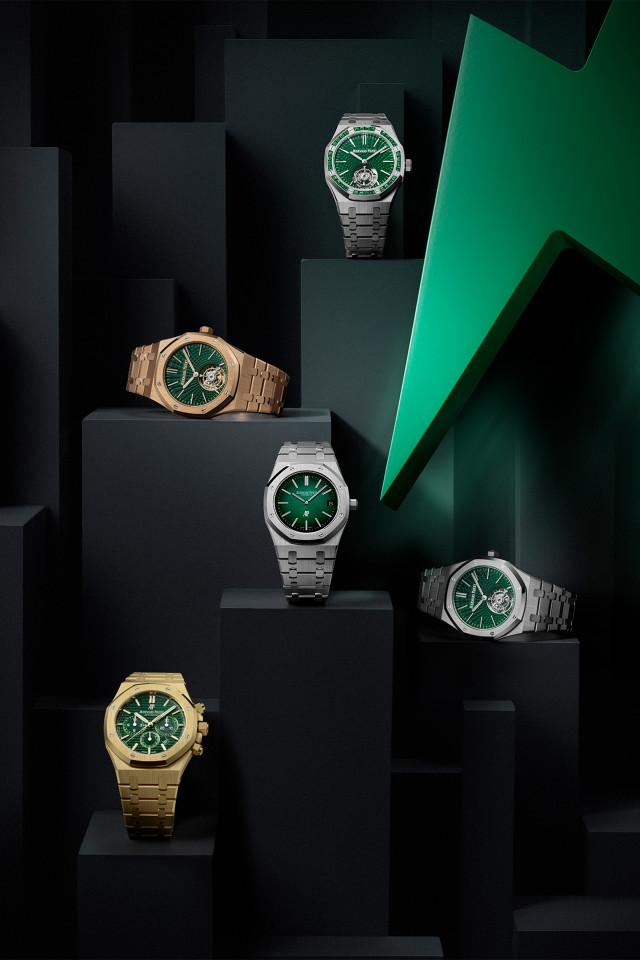 Audemars Piguet Royal Oak green dial watch collection 2021
