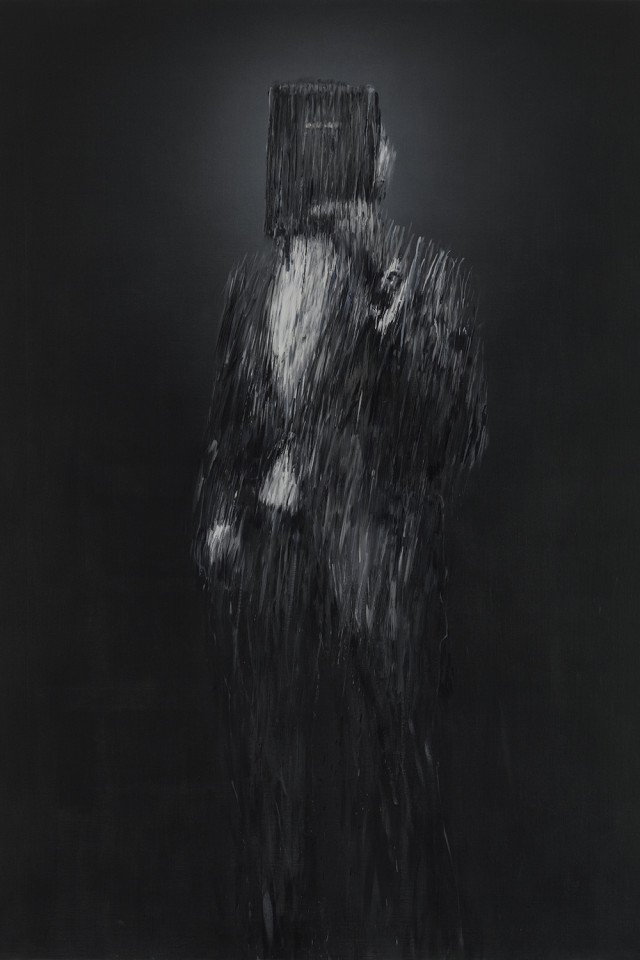 Portrait of Emmanuel (or Man Standing Behind his Self-Belief), 2019, by Charming Baker