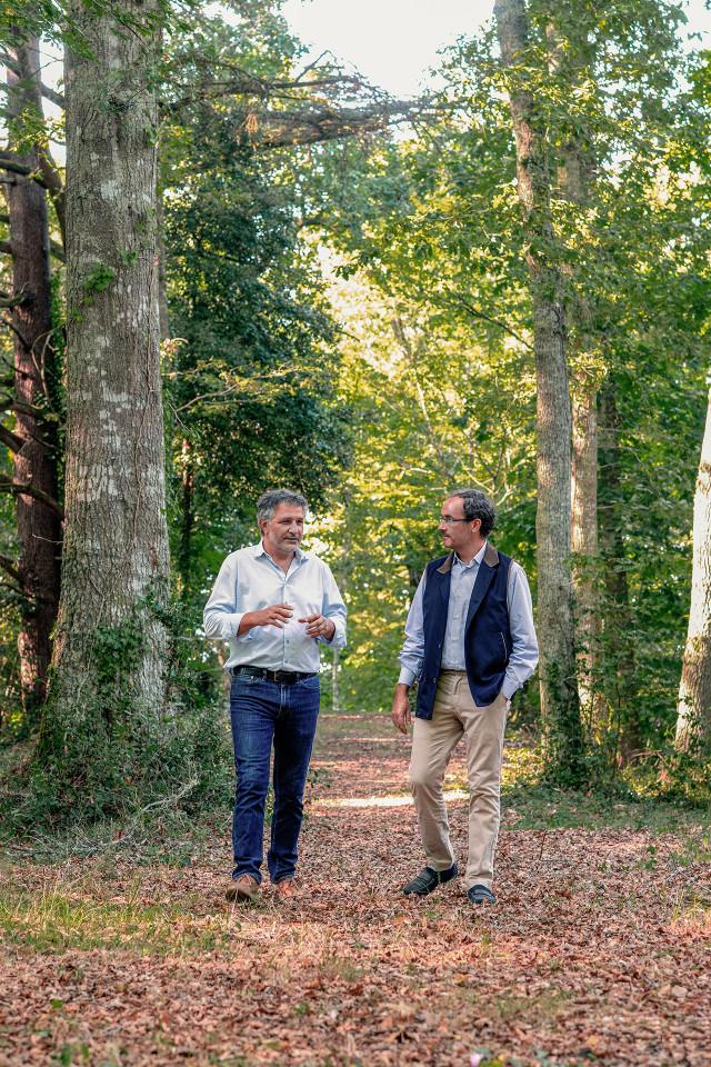 Tristan Le Lous with Château Cantenac Brown winemaker José Sanfins