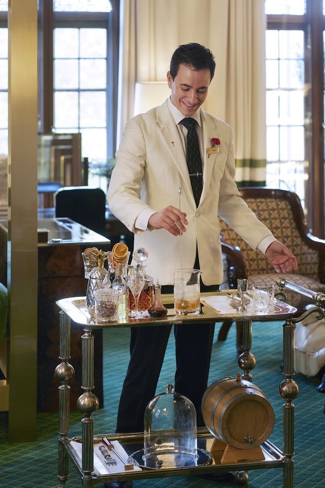 The Milestone Hotel in-room private cocktail bar service