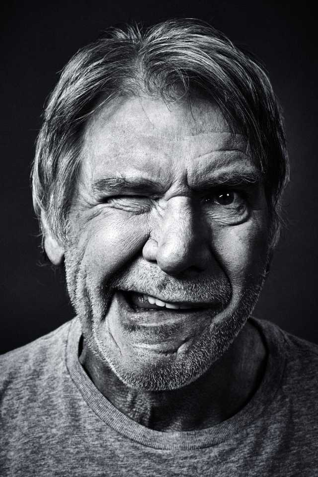 Harrison Ford by famous photographer Andy Gotts MBE