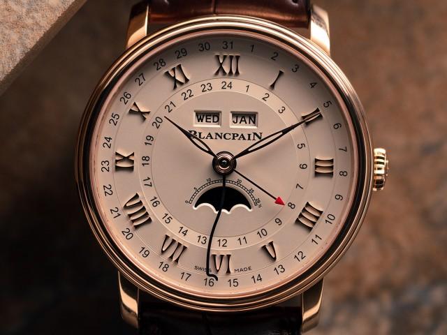 Best rose gold watches, Blancpain Villeret Quantieme Complet GMT