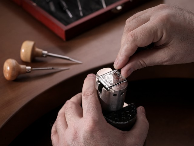 Hand engraving at Jaeger-LeCoultre's watch factory