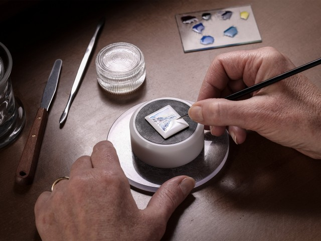 Enamel painting at Jaeger-LeCoultre watch factory