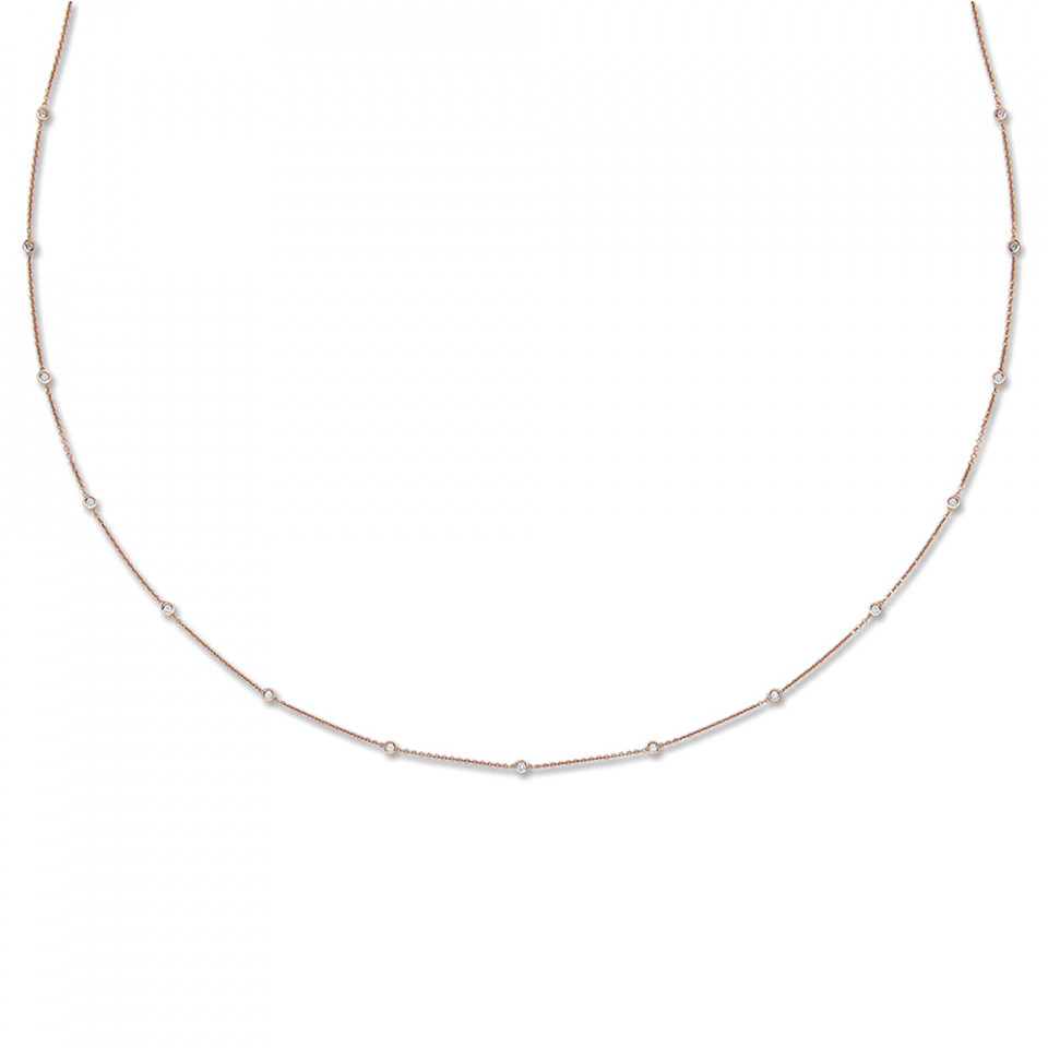 London DE 18ct rose gold diamond necklace, £1,899