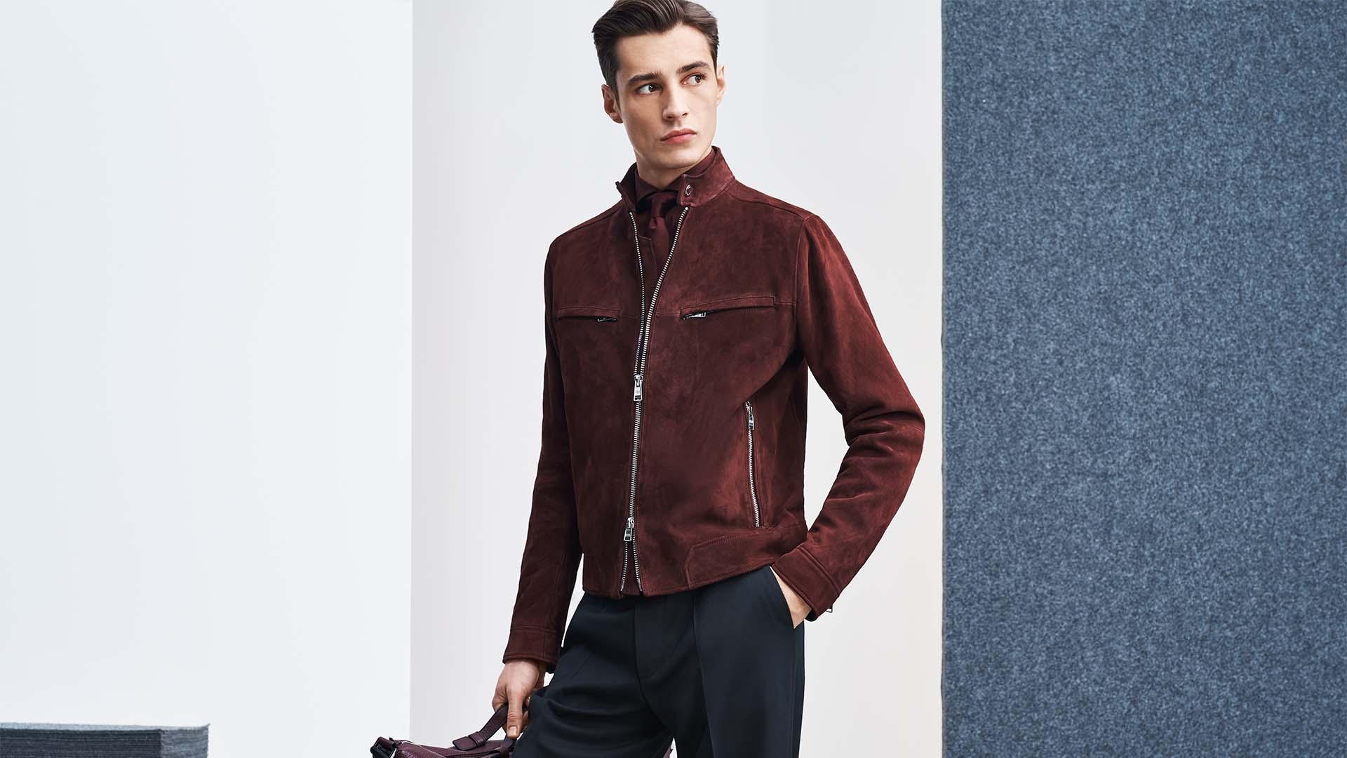 Winter jacket – BOSS, Suede Jacket