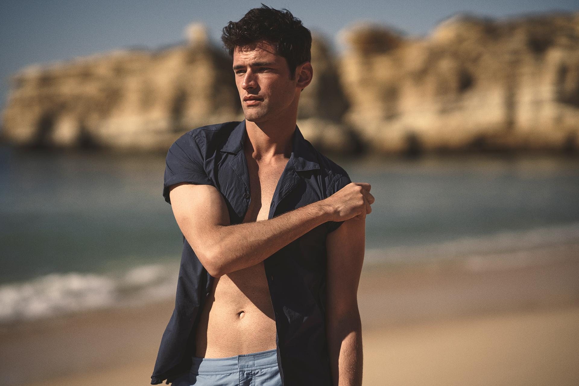 Orlebar Brown Travis poplin Capri-collar shirt