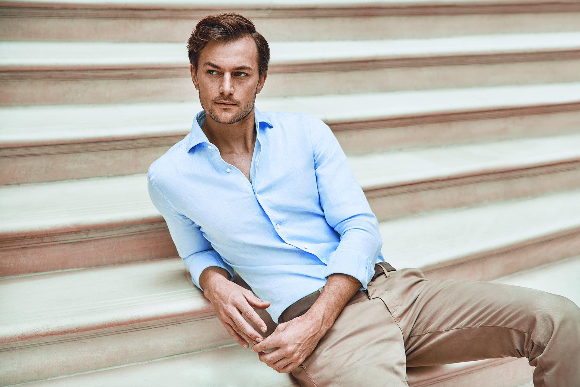 Luca Faloni Portofino linen shirt