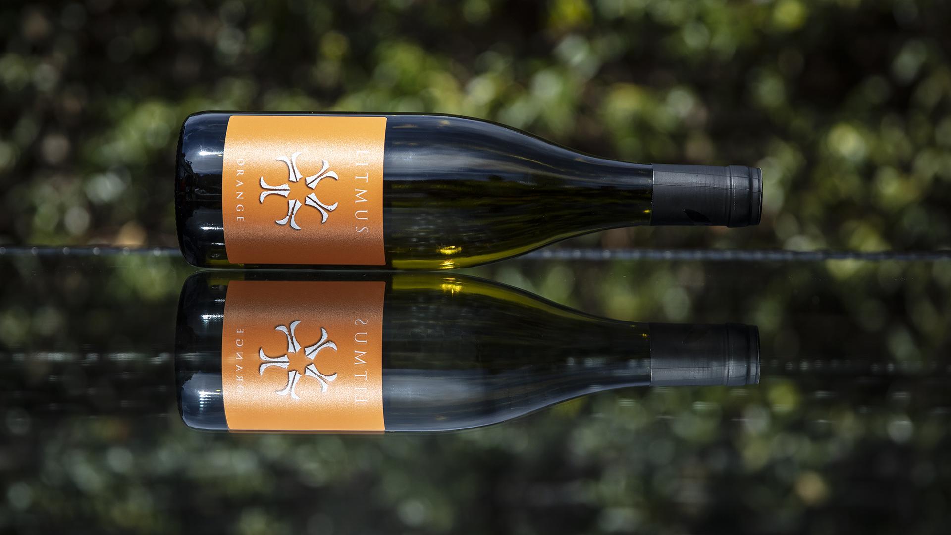 Litmus orange wine