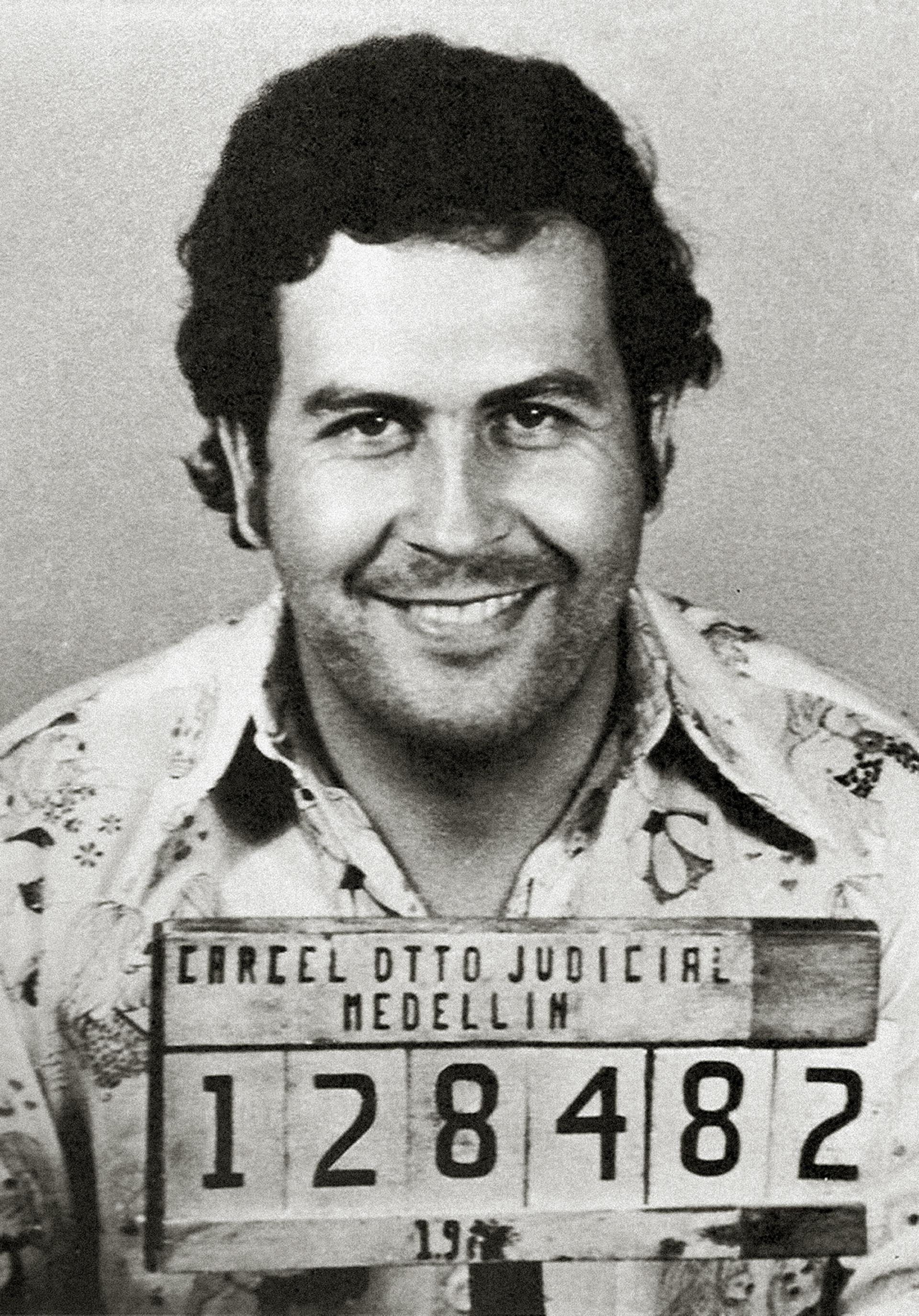 Pablo Escobar's 1977 mugshot