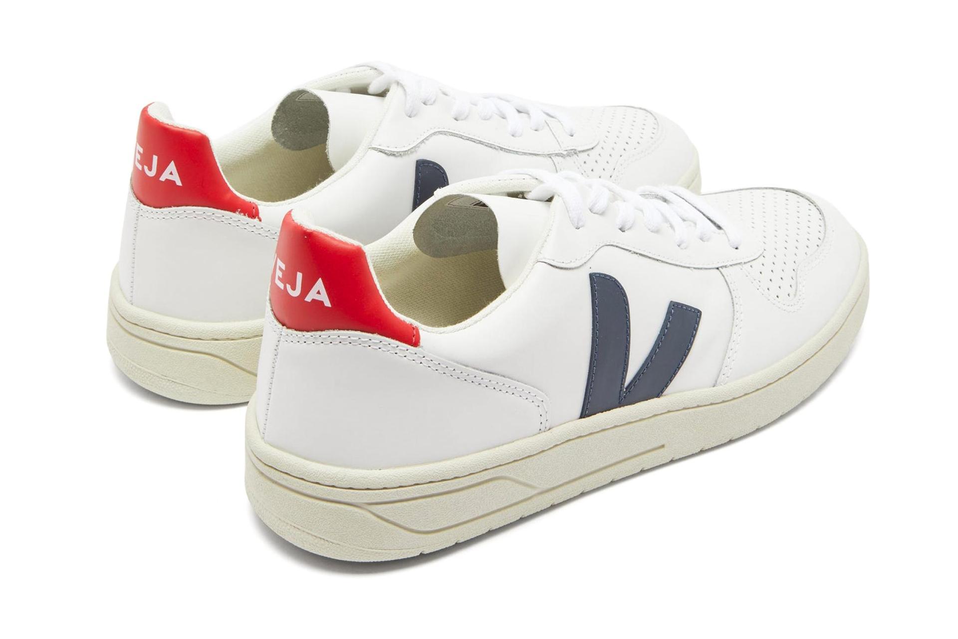 Veja's white leather V-10