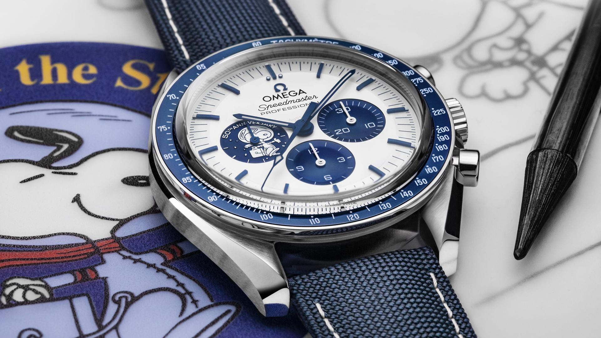 "Omega ""Silver Snoopy Award"" 50th Anniversary Snoopy Speedmaster"